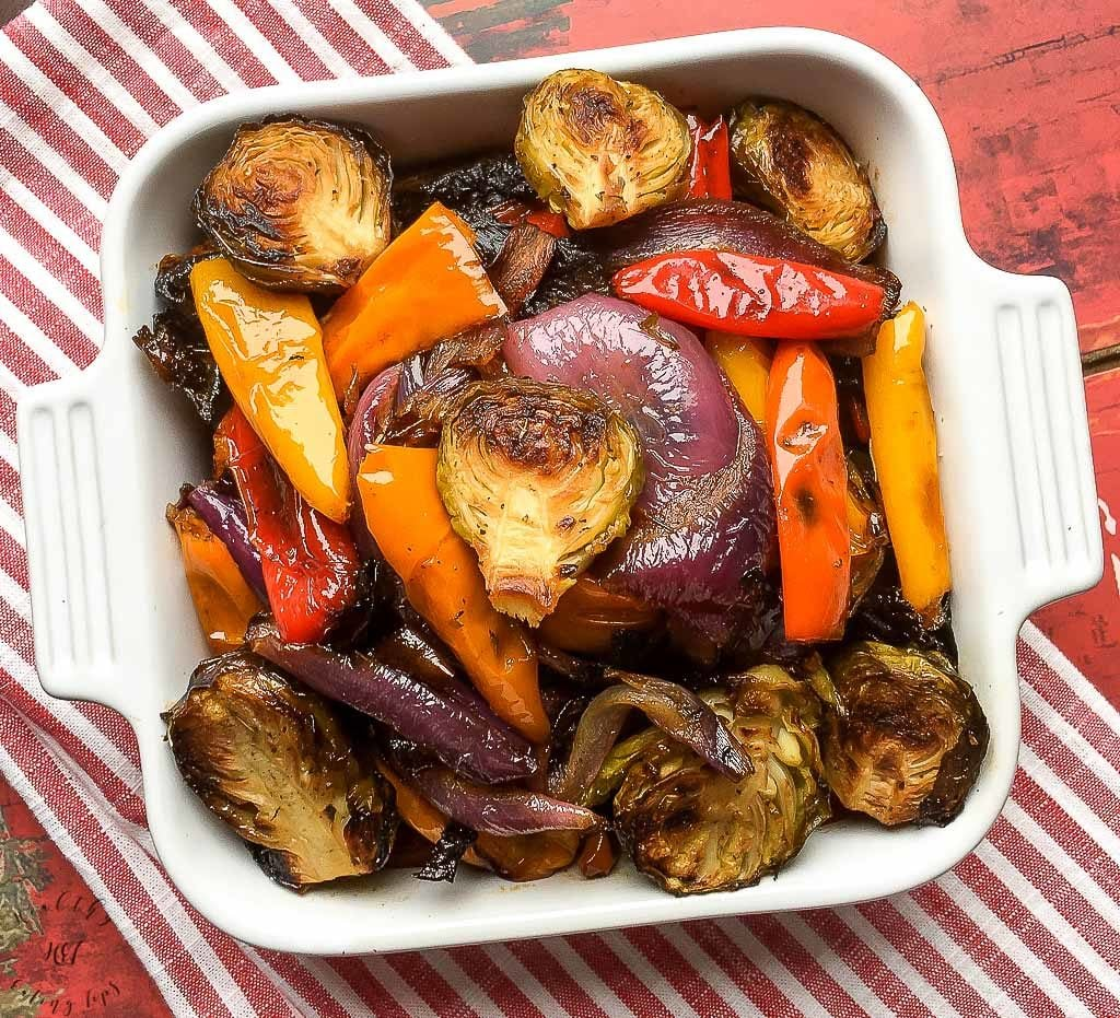 Mediterranean Roasted Vegetables Recipe. This recipe is a great one dish side.