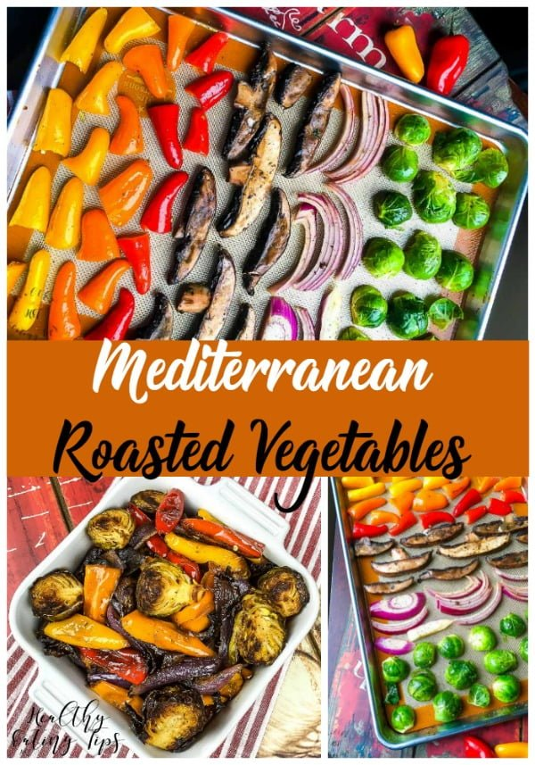 Sheet Pan Mediterranean Roasted Vegetables. This recipe is a great addition to any meal.